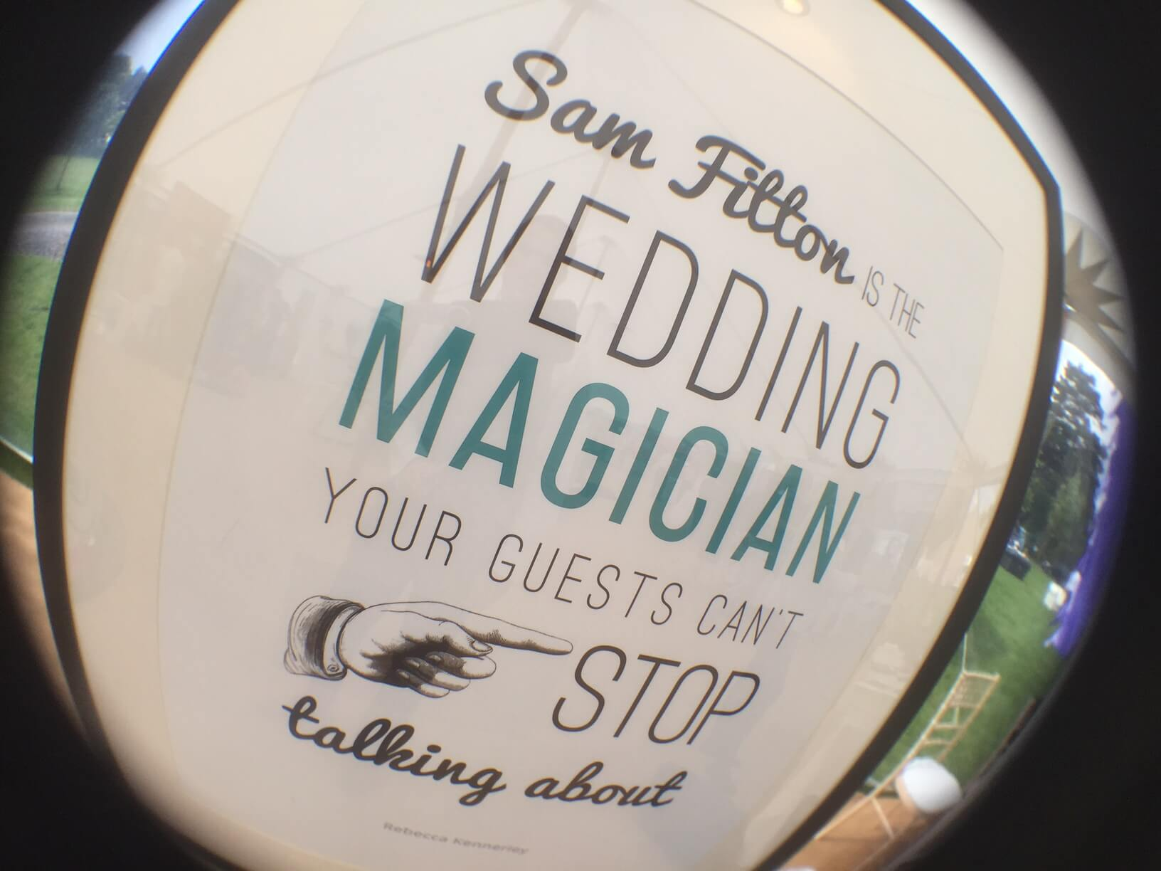 sam fitton manchester wedding magician wedstival sign